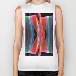 Colourful Ups- and downs abstract Biker Tank