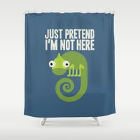 introvert Shower Curtains featuring Most Likely to Recede by David Olenick