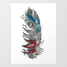 Garden Feather Art Print