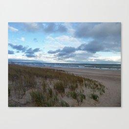 Cloudy Lake Michigan Shoreline Canvas Print