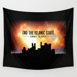 End The Islamic State Wall Tapestry