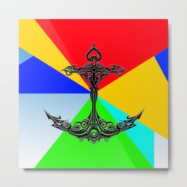 Anchor Abstract Colorful Metal Print