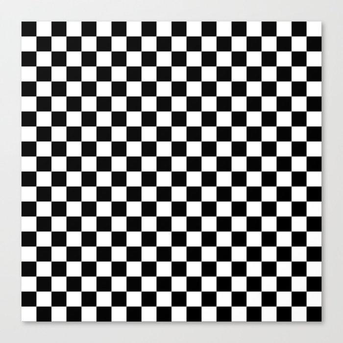 Black Checkerboard Pattern Leinwanddruck