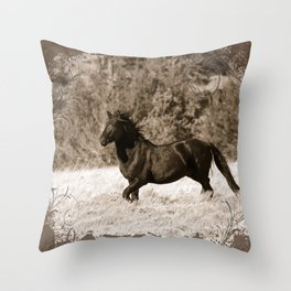 Free Runner - Sepia Throw Pillow