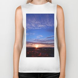 Sunset and Blue Sky Biker Tank