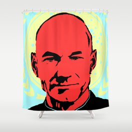 Captain Jean Luc Picard Shower Curtain
