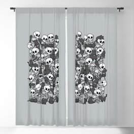 Cat Skull Party Blackout Curtain