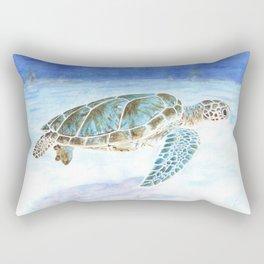 Sea turtle underwater Rectangular Pillow