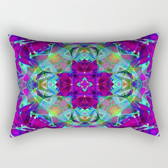 kaleidoscope Crystal Abstract G16 Rectangular Pillow