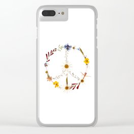 Peace flowers Clear iPhone Case