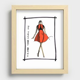Red and Black at Lucky FABB Recessed Framed Print