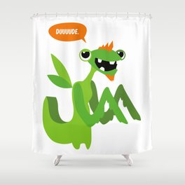 Grasshopper - Dude. Shower Curtain