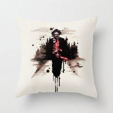 Leatherface 1974 Throw Pillow