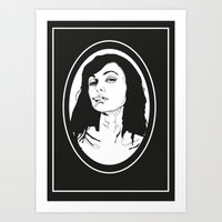 smoking Art Prints featuring Smoking by Anna McKay