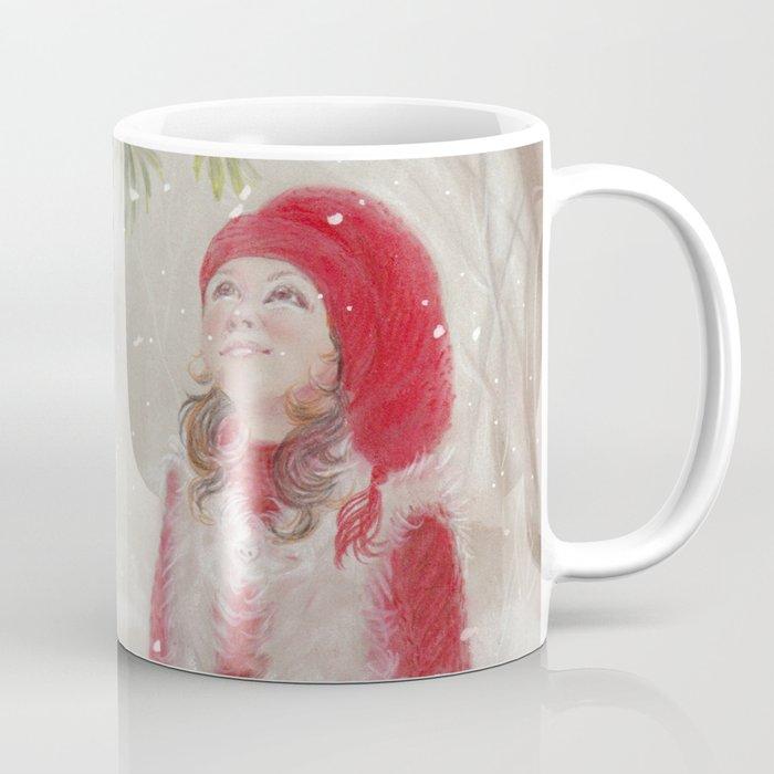 bullfinch and gnome girl christmas coffee mug - Christmas Coffee Cups