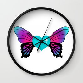 Painted Soul - Butterfly Heart Wall Clock