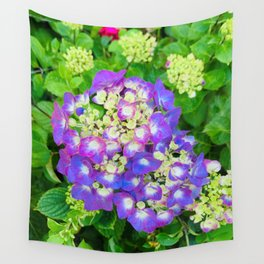 Purple Hydrangea photograph Wall Tapestry