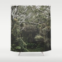 Jungle of Trees in Hilo, Hawaii Shower Curtain