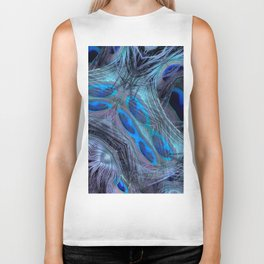 Feather Abstract Biker Tank