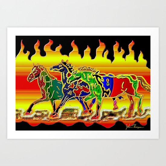 Wild Horses 2 Art Print