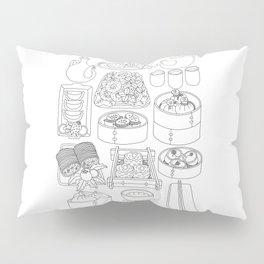 Sunday Dim Sum - Line Art Pillow Sham