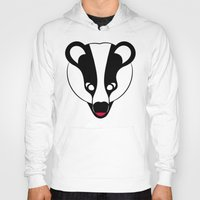 badger Hoodies featuring Badger by Doctor Hue