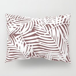 Tropical Red Leaves Pillow Sham