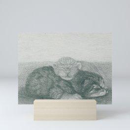 Snuggling Kittens 1 Mini Art Print