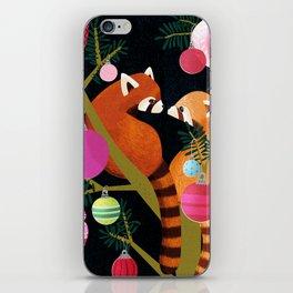 Red Pandas in Christmas Tree iPhone Skin