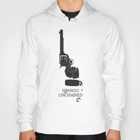 django Hoodies featuring Django Unchained by Deep Search