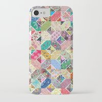 quilt iPhone & iPod Cases featuring Betty's Diamond Quilt by Rachel Caldwell