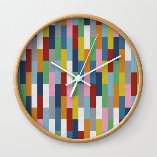 Bricks Rotate Wall Clock