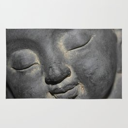 Gentle Buddha Face Stone Sculpture Rug