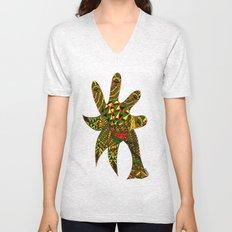 Finger Palm Tree Unisex V-Neck