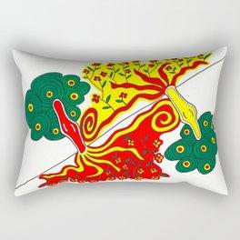 Rooted caress Rectangular Pillow