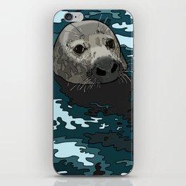 Grey Seal iPhone Skin