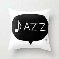 jazz Throw Pillows featuring Jazz by Abel Fdez