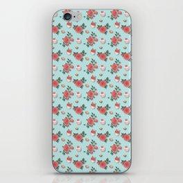 Blue Cupcake Florals iPhone Skin
