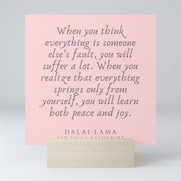 128   | Dalai Lama Quotes 190504 Mini Art Print