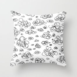 A Squiggle Sky Throw Pillow