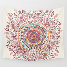 Sunflower Mandala Wall Tapestry