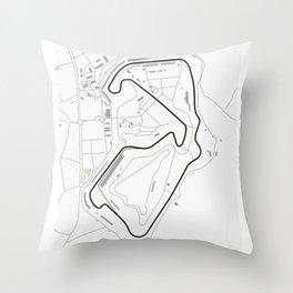 Silverstone Circuit Map Throw Pillow