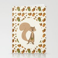 squirrel Stationery Cards featuring Squirrel by Jane Mathieu