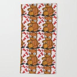 Mom's Bear Love Beach Towel