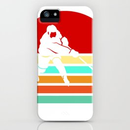 Hockey Player Vintage Hockey Retro Gift iPhone Case