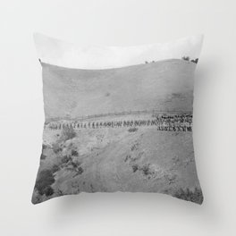 World War I Camp Fremont Solders in Palo Alto Throw Pillow