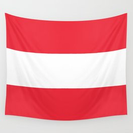 Flag of Austria -  authentic version (High quality image) Wall Tapestry