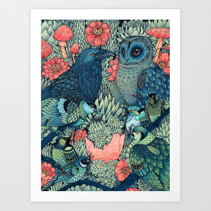 Night Owl Keepers curates Cosmic Egg Art Print by angelarizza.