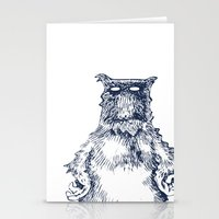 eddie vedder Stationery Cards featuring Eddie Monster by Anna Koleszko