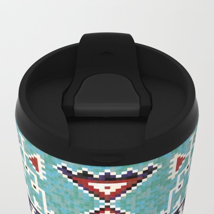 Native American Navajo pattern Metal Travel Mug